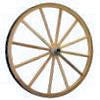 1069 - 24in Solid Aluminum Wood Wagon Wheel